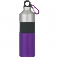 Purple Two-Tone Aluminum Bottles With Rubber Grip | 25 oz