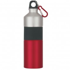 Red Two-Tone Aluminum Bottles With Rubber Grip | 25 oz