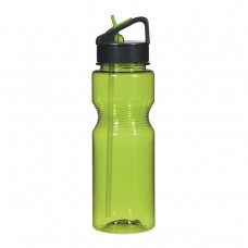 Lime Green Ring Around The Bottles With Straw | 24 oz