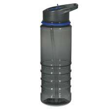 Charcoal With Blue Sip Top Gripper Bottles With Straw | 24 oz