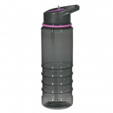 Purple Gripper Bottles With Straw | 24 oz - Charcoal With Purple Sip Top