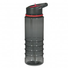Red Gripper Bottles With Straw | 24 oz - Charcoal With Red Sip Top