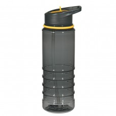 Yellow Gripper Bottles With Straw | 24 oz - Charcoal With Yellow Sip Top