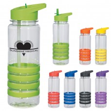Banded Gripper Bottles With Straw | 24 oz