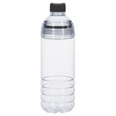 Black Easy-Clean Water Bottles | 28 oz - Clear Bottles With Black Cap and Accents