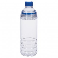 Clear Bottles With Blue Cap and Accents Easy-Clean Water Bottles | 28 oz