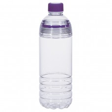 Purple Easy-Clean Water Bottles | 28 oz - Clear Bottles With Purple Cap and Accents