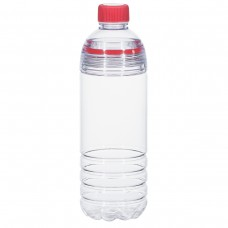 Red Easy-Clean Water Bottles | 28 oz - Clear Bottles With Red Cap and Accents