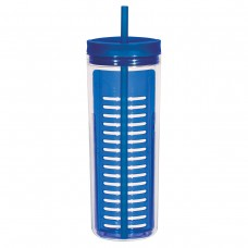 Blue Infusion Bottles With Straw | 20 oz