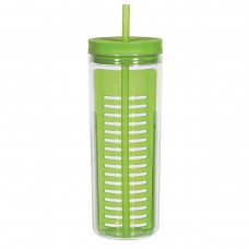 Green Infusion Bottles With Straw | 20 oz