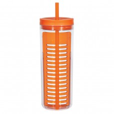 Orange Infusion Bottles With Straw | 20 oz