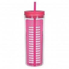 Pink Infusion Bottles With Straw | 20 oz