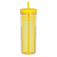 Yellow Infusion Bottles With Straw | 20 oz