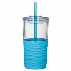 Clear with Blue Sleeve Riptide Tumblers | 20 oz