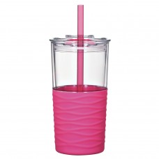 Pink Riptide Tumblers | 20 oz - Clear with Pink Sleeve