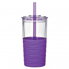Purple Riptide Tumblers | 20 oz - Clear with Purple Sleeve