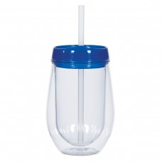 Clear with Blue Lid Bev/Go Tumblers | 10 oz