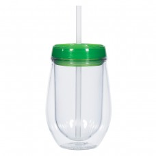 Green Bev/Go Tumblers | 10 oz - Clear with Green Lid