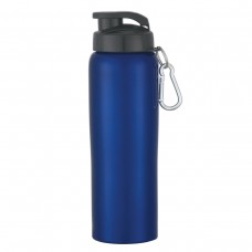 Metallic Blue Stainless Steel Bike Bottles | 24 oz