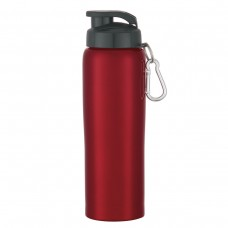 Red Stainless Steel Bike Bottles | 24 oz - Metallic Red