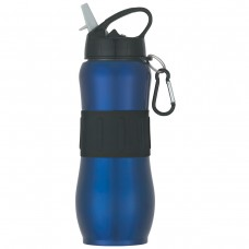 Blue Stainless Steel Sport Grip Bottles | 28 oz