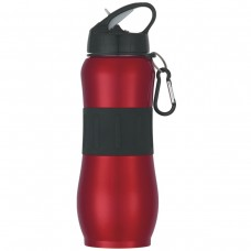 Red Stainless Steel Sport Grip Bottles | 28 oz