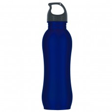 Metallic Blue Stainless Steel Grip Bottles | 25 oz