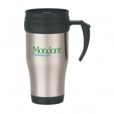 Stainless Steel Travel Mug With Slide Action Lid And Plastic Inner Liner | 16 oz