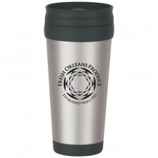 Stainless Steel Tumbler With Slide Action Lid And Plastic Inner Liner | 16 oz