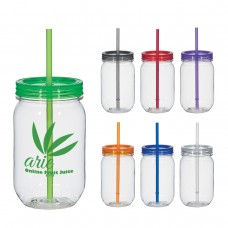 Mason Jar With Matching Straw | 25 oz