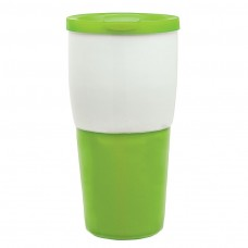 Lime Green Ceramic Travel Tumblers | 15 oz