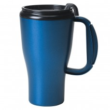 Metallic Blue Omega Mugs With Slider Lid | 16 oz