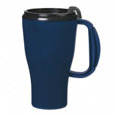 Navy Blue Omega Mugs With Slider Lid | 16 oz
