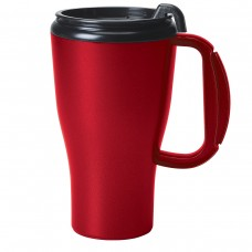 Metallic Red Omega Mugs With Slider Lid | 16 oz
