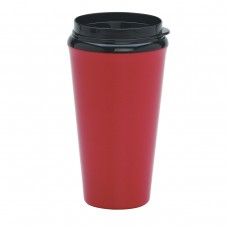Red Infinity Tumblers With Plastic Sip Thru Lid | 16 oz - Metallic Red