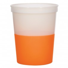 Orange Color Changing Stadium Cup | 16 oz - Frosted