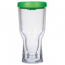 Green Brew2Go Tumblers | 18 oz - Clear with Green Lid