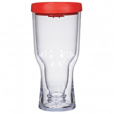 Red Brew2Go Tumblers | 18 oz - Clear with Red Lid