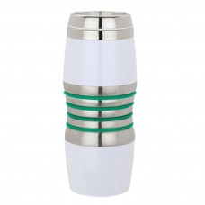 Green Acrylic & Steel Tumblers | 16 oz - Stainless Steel with Green Rings
