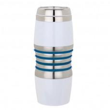 Stainless Steel with Blue Rings Acrylic & Steel Tumblers | 16 oz