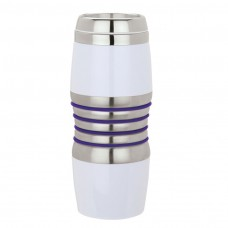 Purple Acrylic & Steel Tumblers | 16 oz - Stainless Steel with Purple Rings