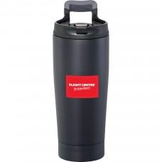 Personalized Blackout Vacuum Tumbler | 17 oz - Black