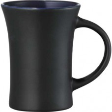 Black with Royal Blue Lining Dakota Ceramic Mugs | 10 oz