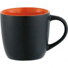 Black with Orange Lining Riviera Mugs - Electric | 12 oz