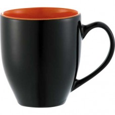 Black with Orange Trim Zapata Mugs - Electric | 15 oz