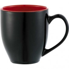 Black with Red Trim Zapata Mugs - Electric | 15 oz