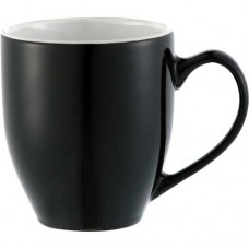 Black with White Trim Zapata Mugs - Electric | 15 oz