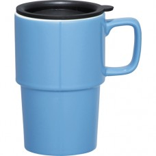 Light Blue Contra Ceramic Mugs | 17 oz