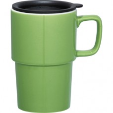 Lime Green Contra Ceramic Mugs | 17 oz