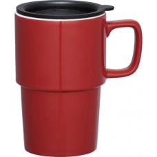 Red Contra Ceramic Mugs | 17 oz